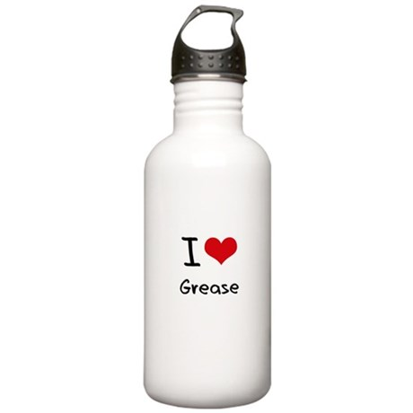 I Love Grease Water Bottle