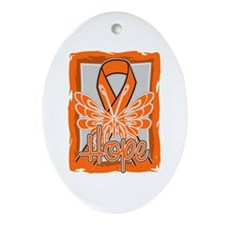 COPD Hope Butterfly Ornament (Oval)