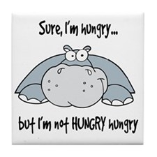 Hippo Hungry Tile Coaster