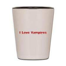 I Love Vampires Shot Glass