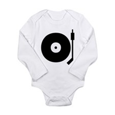 Old school record player blac Body Suit