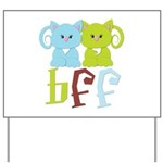 BFF - Best Friends Forever Cats Yard Sign