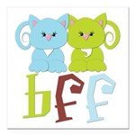 BFF - Best Friends Forever Cats Square Car Magnet