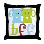 BFF - Best Friends Forever Cats Throw Pillow