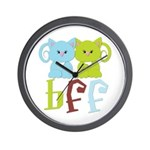 BFF - Best Friends Forever Cats Wall Clock