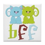 BFF - Best Friends Forever Cats Tile Coaster