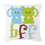 BFF - Best Friends Forever Cats Woven Throw Pillow