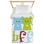 BFF - Best Friends Forever Cats Twin Duvet