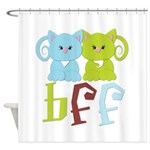 BFF - Best Friends Forever Cats Shower Curtain