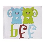 BFF - Best Friends Forever Cats Throw Blanket