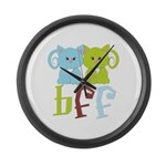BFF - Best Friends Forever Cats Large Wall Clock