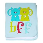 BFF - Best Friends Forever Cats baby blanket