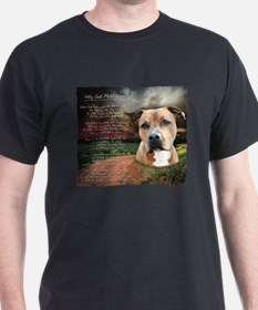 """""""Why God Made Dogs"""" AmStaff T-Shirt"""