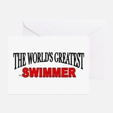 """The World's Greatest Swimmer"" Greeting Cards (Pac"