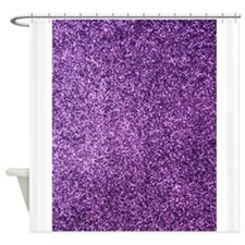 Purple faux glitter Shower Curtain