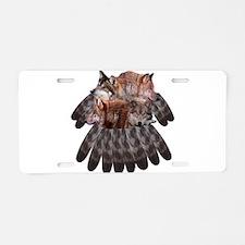 4 Wolves Dreamcatcher Aluminum License Plate