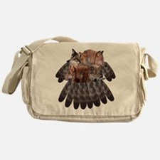 4 Wolves Dreamcatcher Messenger Bag
