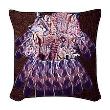 4 Wolves Dreamcatcher Woven Throw Pillow