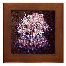 4 Wolves Dreamcatcher Framed Tile