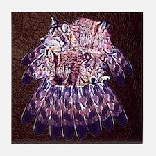 4 Wolves Dreamcatcher Tile Coaster