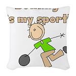 bowlingmysport.png Woven Throw Pillow