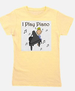 I Play Piano Girl's Tee
