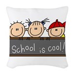 SCHSTICKSEVEN.png Woven Throw Pillow