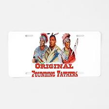 Original Founding Fathers Aluminum License Plate