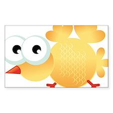 Yellow Cartoon Bird Decal
