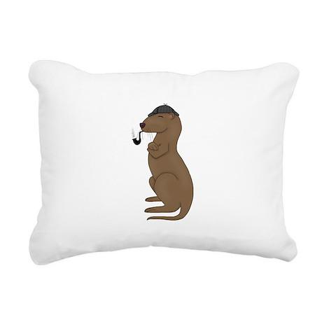 Otterlock Thinking Rectangular Canvas Pillow