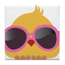 Chick Wearing Sunglasses Tile Coaster