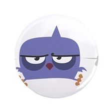 """Purple Angry Bird 3.5"""" Button (100 pack)"""
