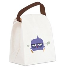 Purple Angry Bird Canvas Lunch Bag