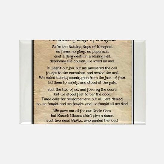 Benghazi Poem Rectangle Magnet