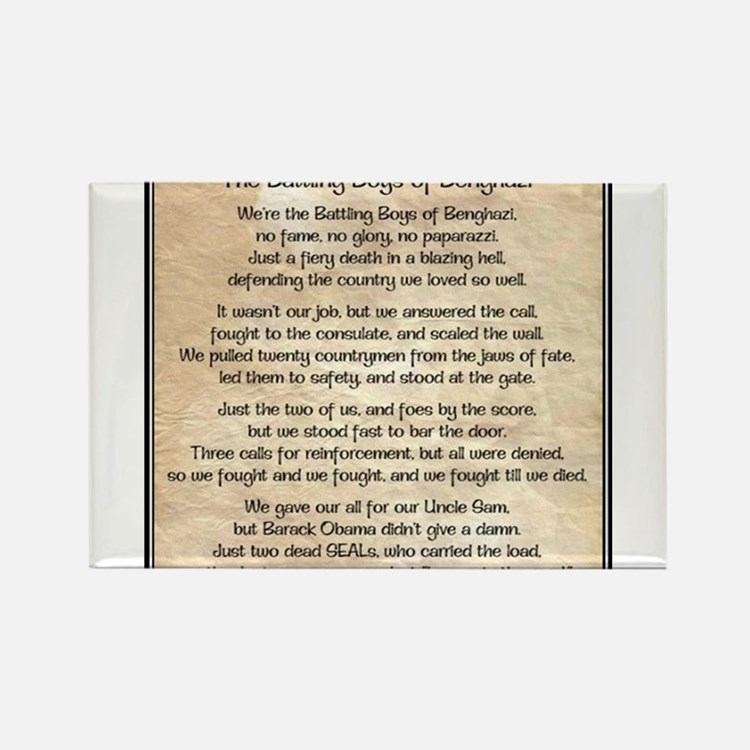 Benghazi Poem Rectangle Magnet