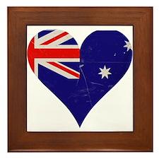 Australia heart Framed Tile