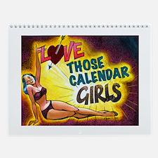 Retro Pin-Up Girls Calendar