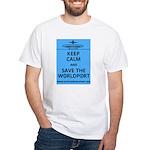 Keep Calm Worldport White T-Shirt