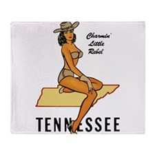 Tennessee Pinup Throw Blanket