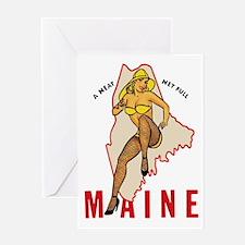 Maine Pinup Greeting Card
