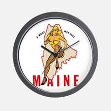 Maine Pinup Wall Clock