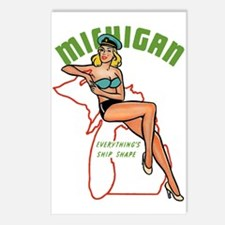 Michigan Pinup Postcards (Package of 8)
