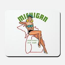 Michigan Pinup Mousepad
