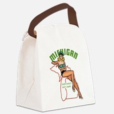 Michigan Pinup Canvas Lunch Bag