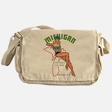 Michigan Pinup Messenger Bag