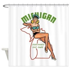 Michigan Pinup Shower Curtain