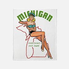 Michigan Pinup Throw Blanket