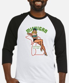 Michigan Pinup Baseball Jersey