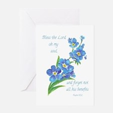 Forget Me Not Flowers With Greeting Cards
