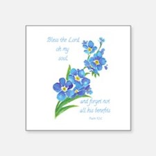 Forget Me Not Flowers With Scripture Sticker